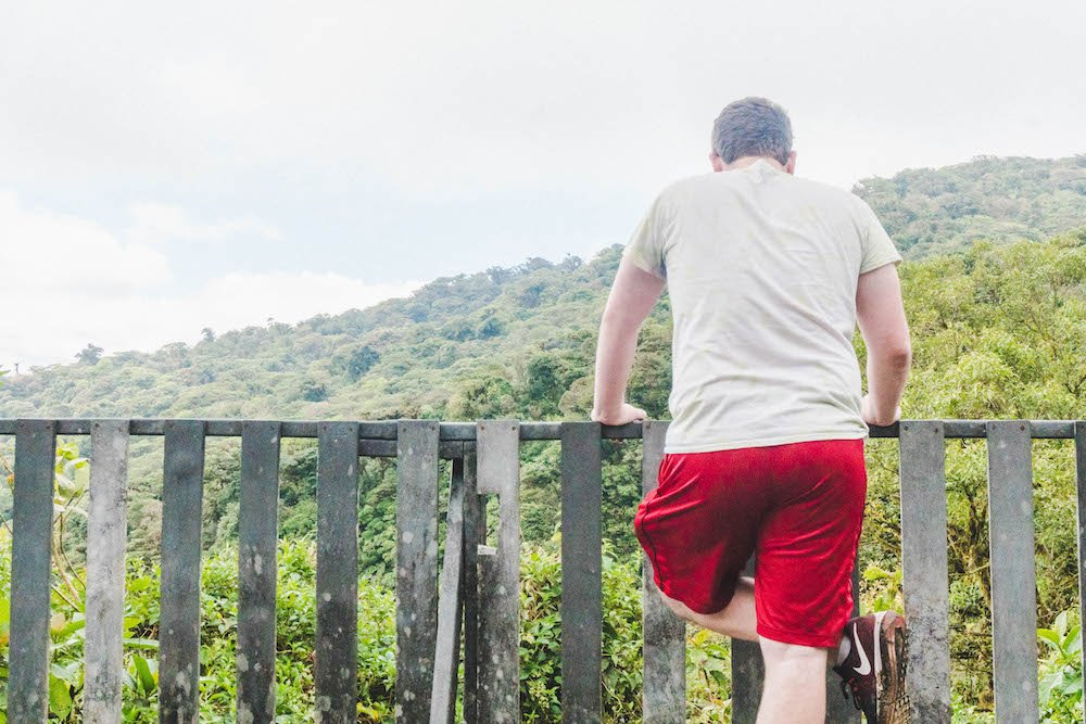 Daniel Looking out at the Monteverde Cloud Forest Reserve