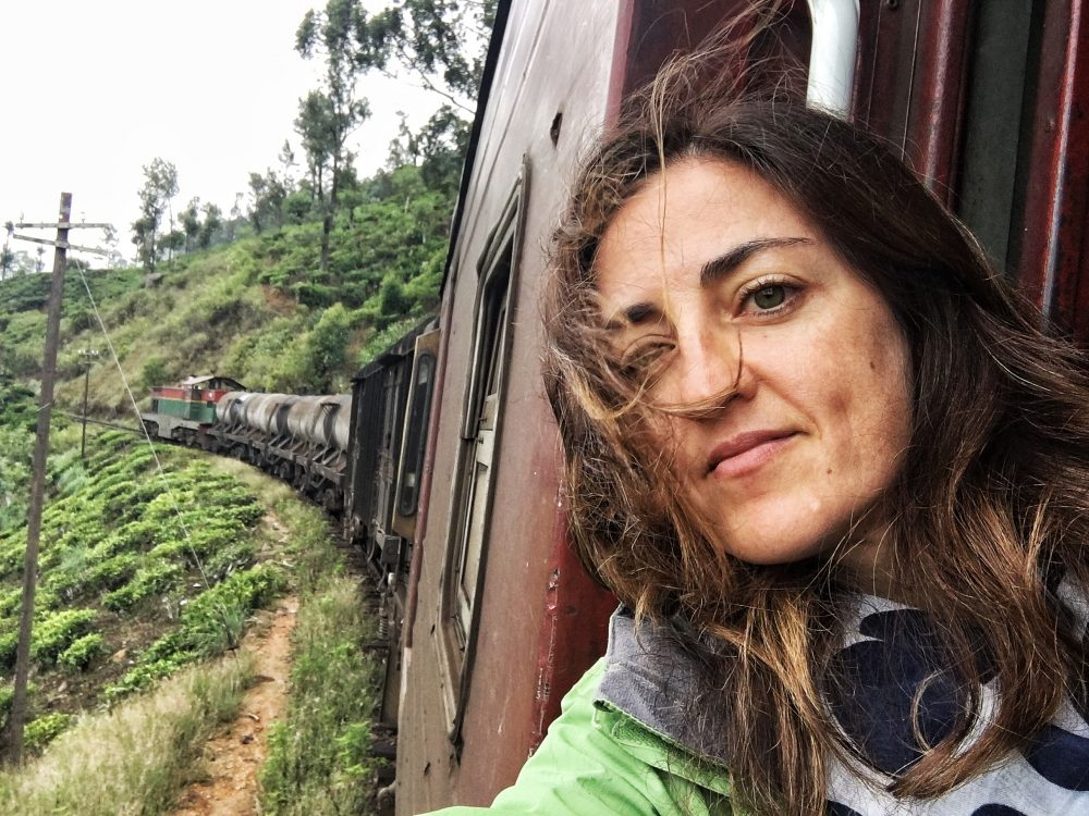 Claudia on a Train