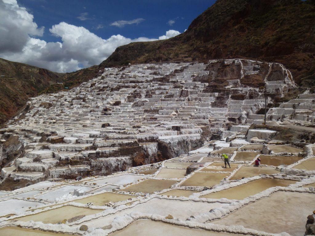 Salt flats seen during Peru study abroad