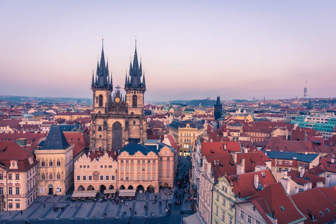 The Church of Our Lady Before Tyn on the Old Town Square in Prague