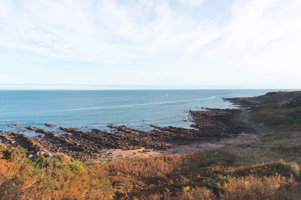 looking out at the sea from the Fife Coastal Path, no fog included
