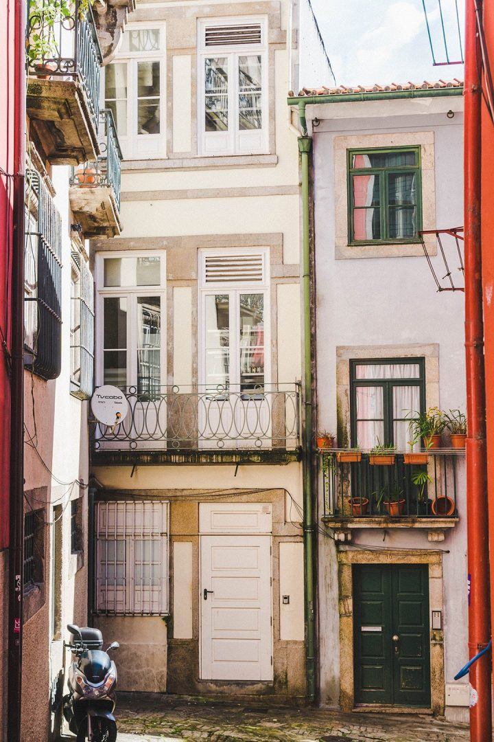 An alleyway in Porto, Portugal