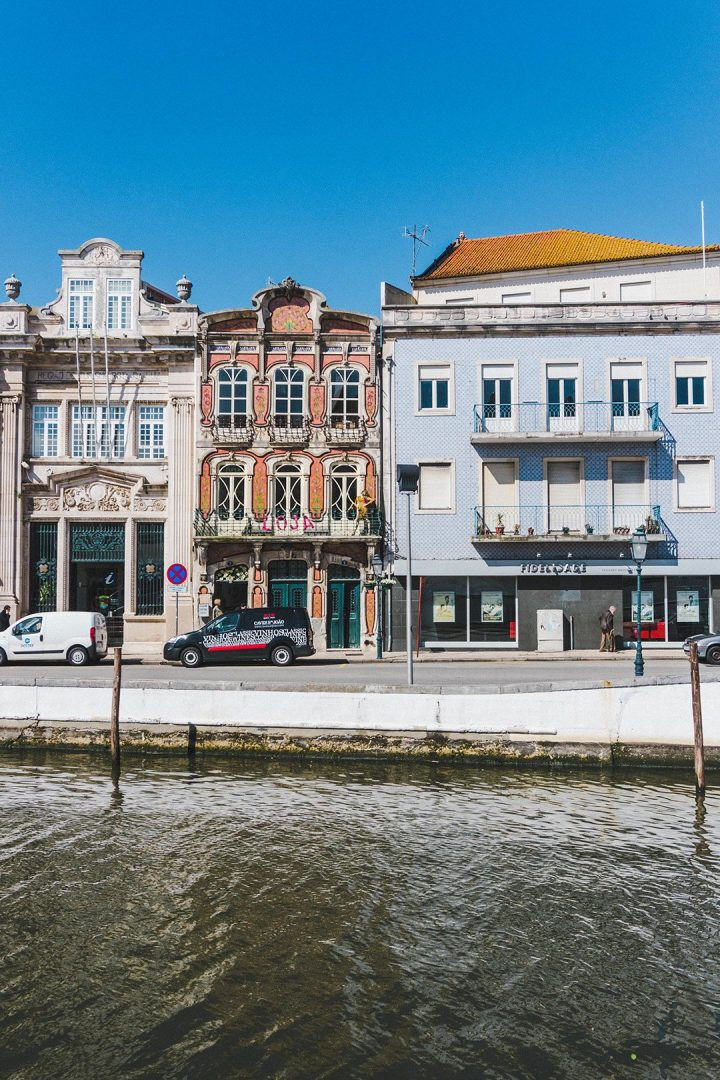 A row of houses along a canal in Aveiro, Portugal pictures