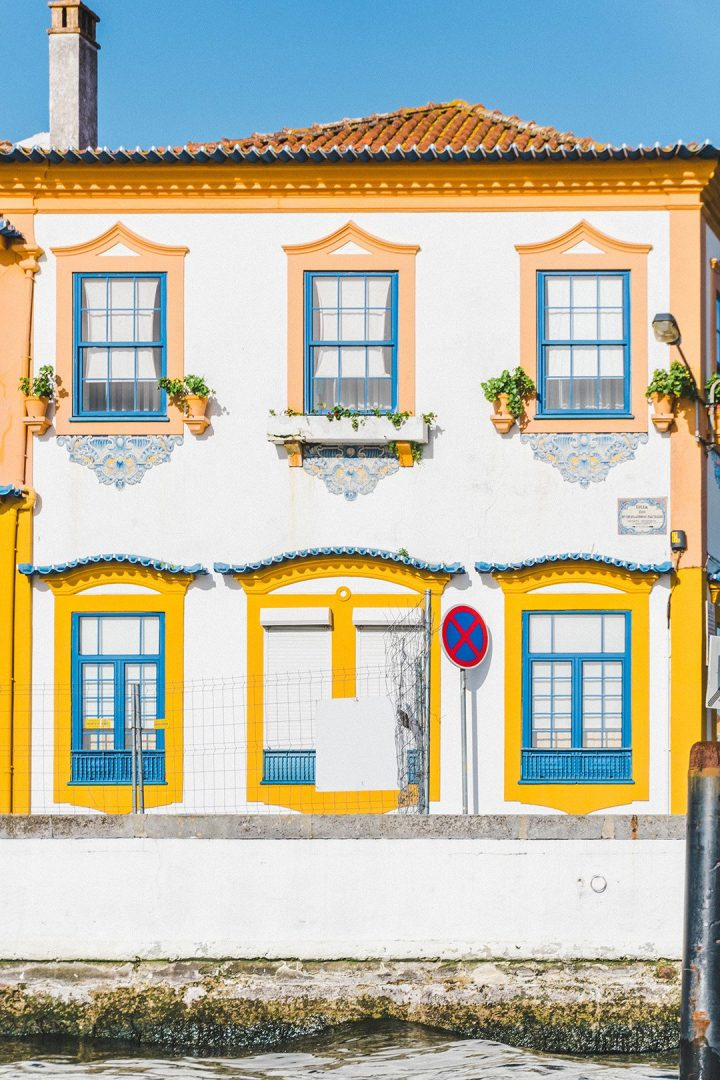 A yellow house in Aveiro, Portugal