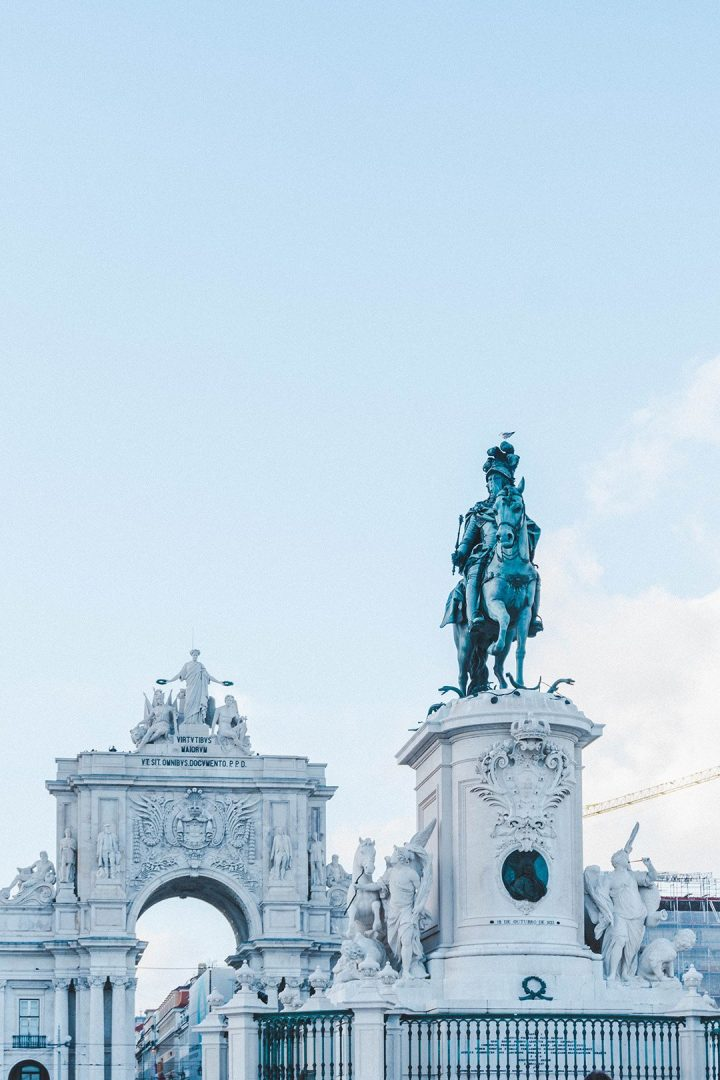 The Praca do Comercio in Lisbon, Portugal. You definitely can't miss this in your 4 days in Lisbon!