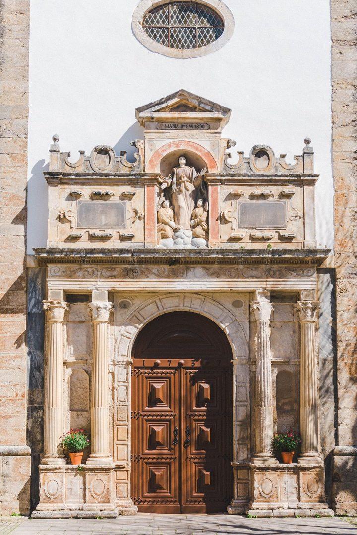 A church door in Obidos, Portugal