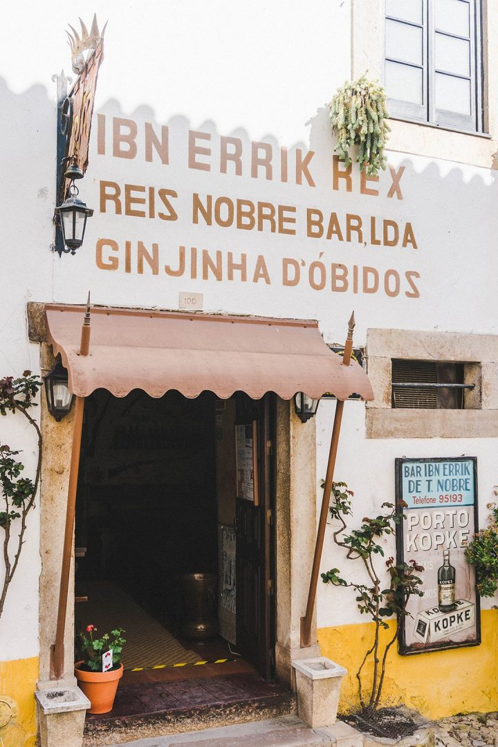 A bookshop and organic grocery store in Obidos, Portugal