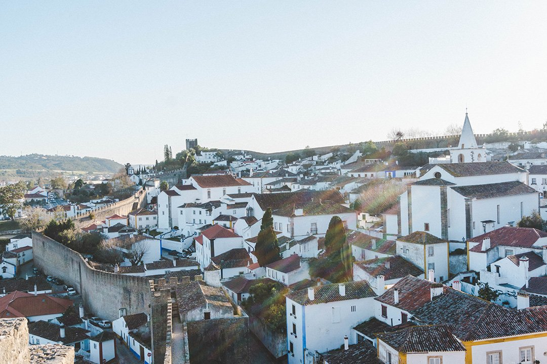 Obidos, Portugal at golden hour during my 2 weeks in Portugal