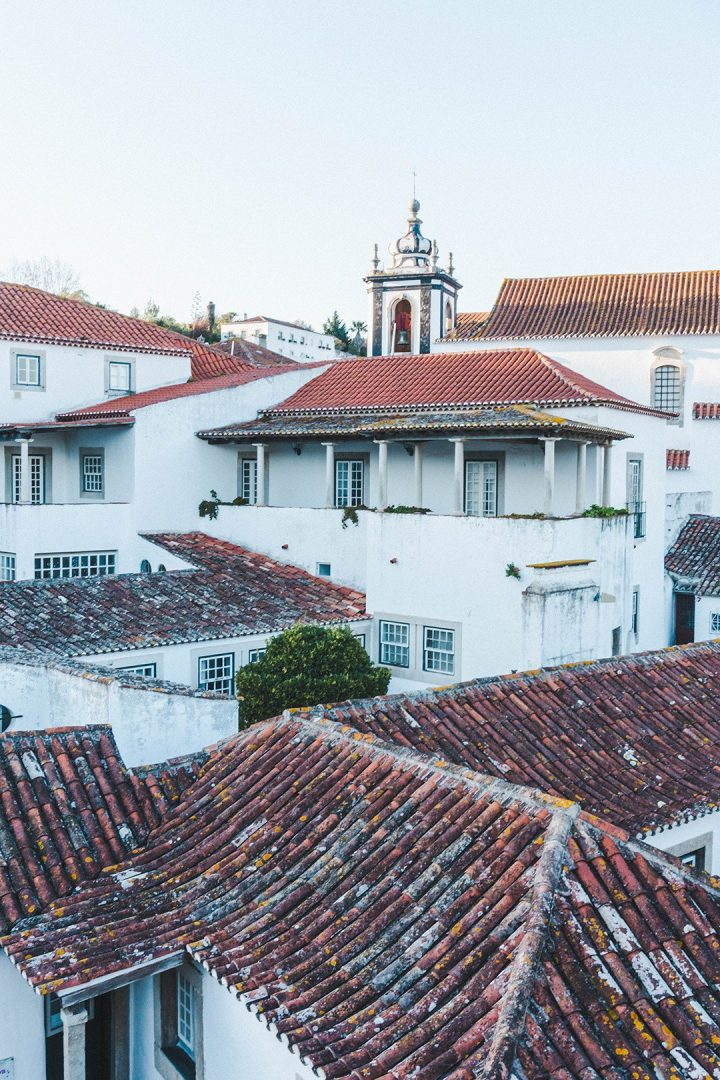 Roofs in Obidos, Portgual