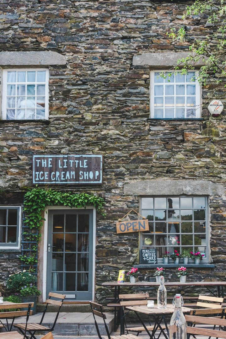 The Little Ice Cream Shop in Hawkshead, Lake District, UK
