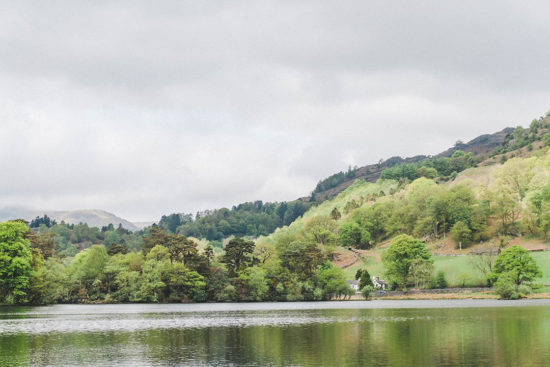 Rydal Water, where we hiked on our romantic Lake District break
