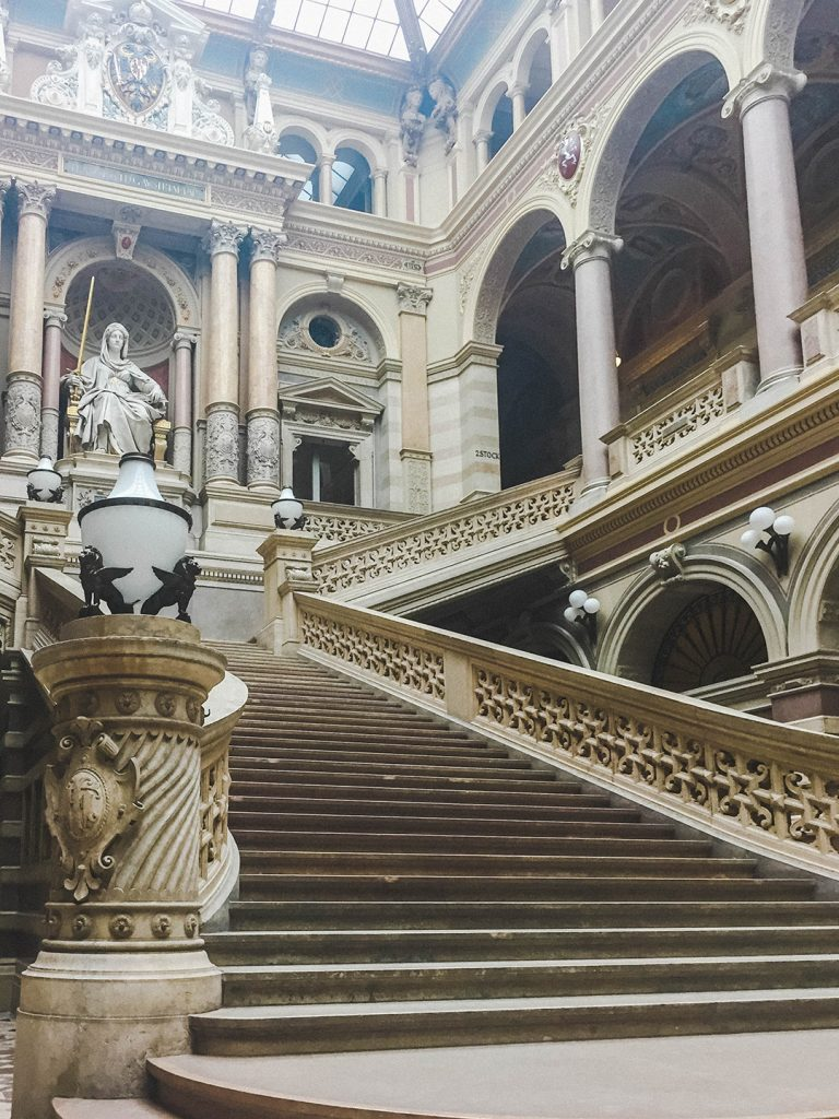 Staircase in the Justitzpalast of Vienna, Austria