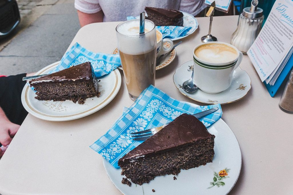 Mohntorte (poppseed cake) at Cafe Vollpension in Vienna, Austria