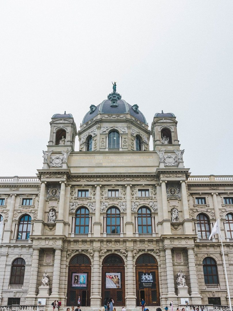 The outside of the Art History Museum in Vienna, Austria