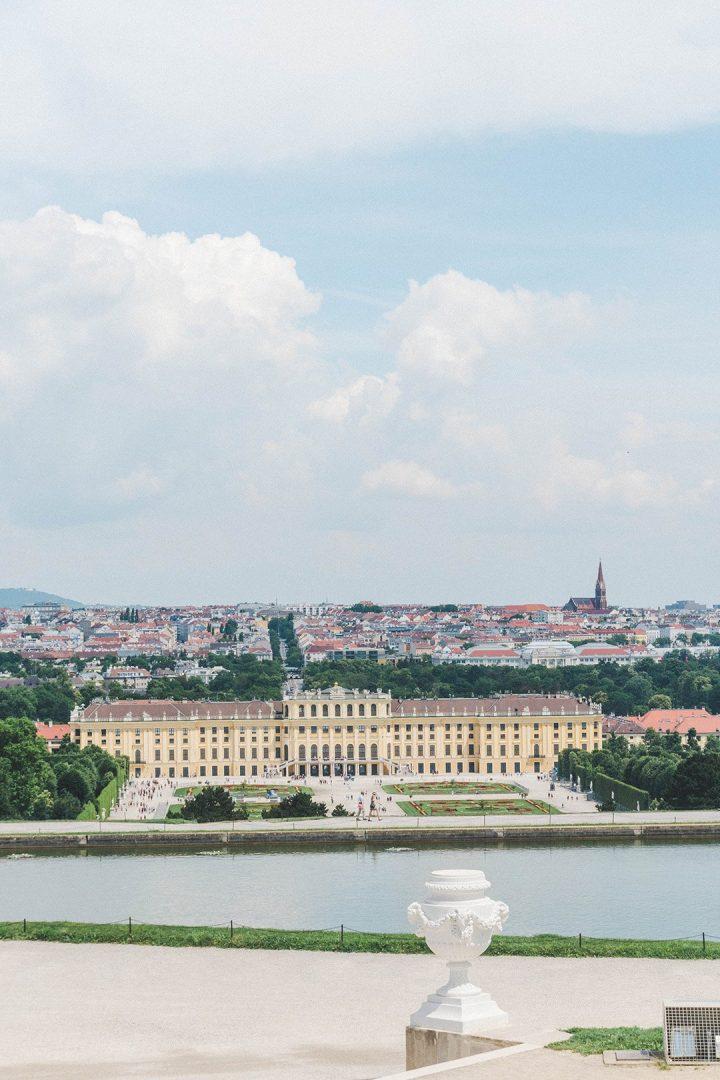 A look out at Vienna, Austria and Schönbrunn Palace