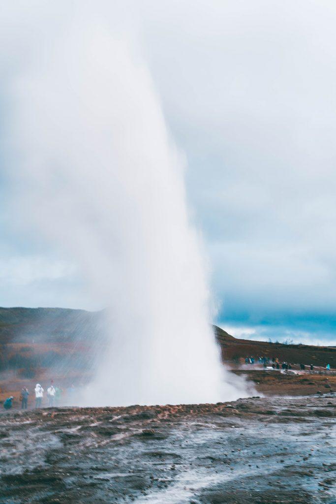 Stokkur geyser erupting