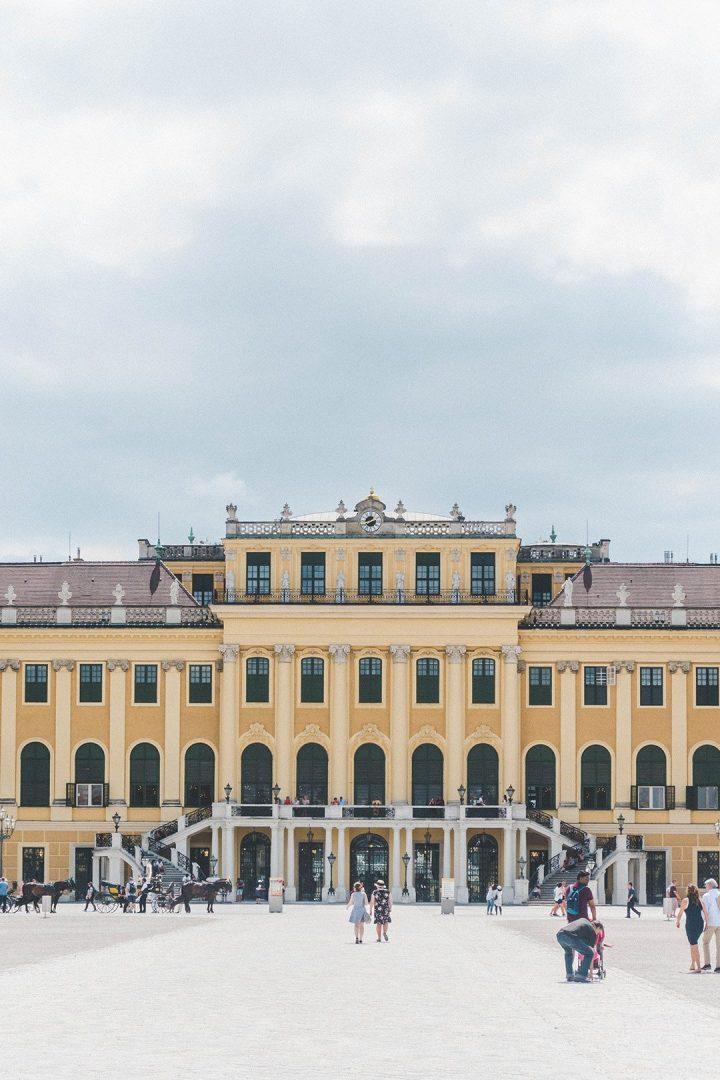 A close up of Schönbrunn Palace