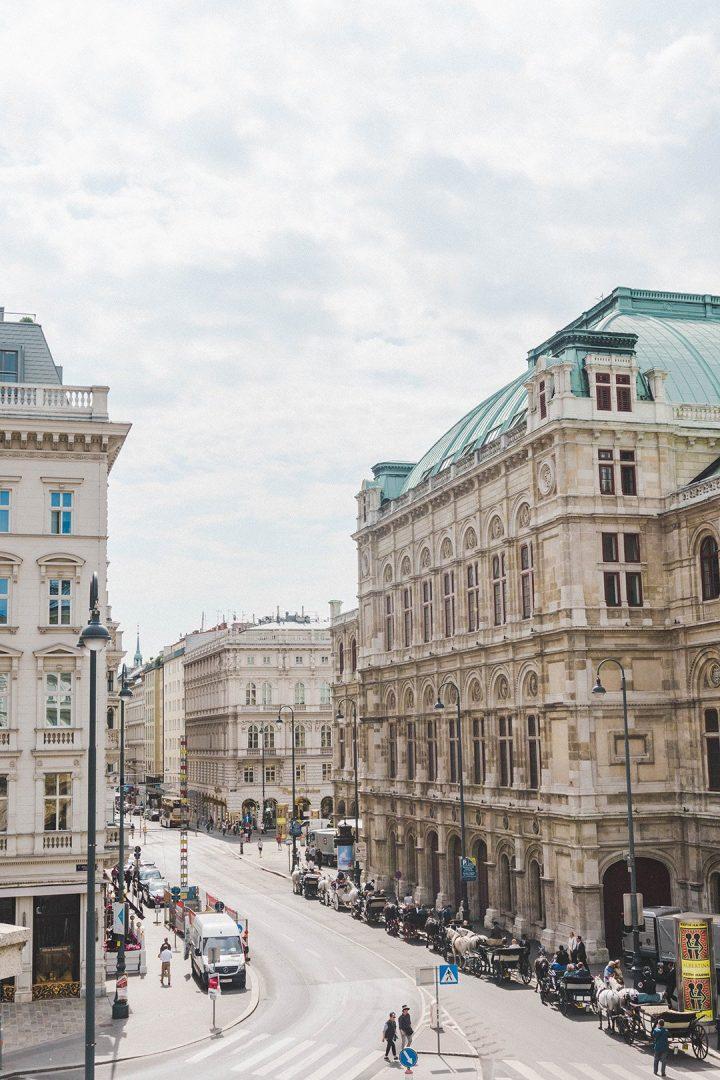 A beautiful street in Vienna, Austria