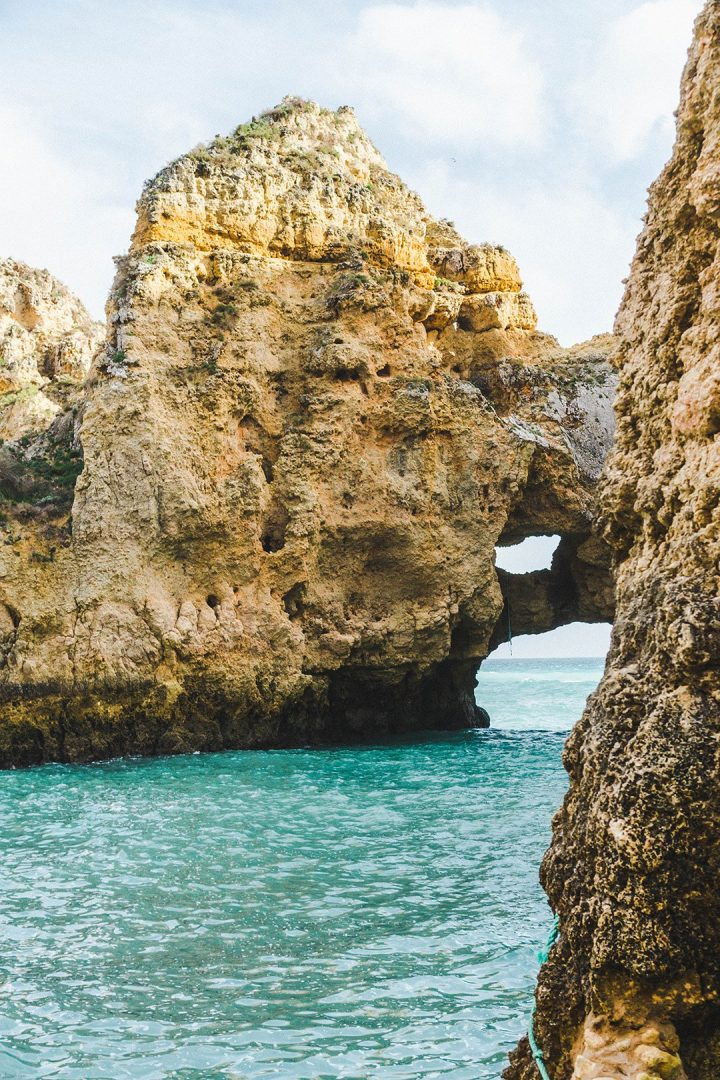 The Ponta da Piedade in Lagos, Portugal