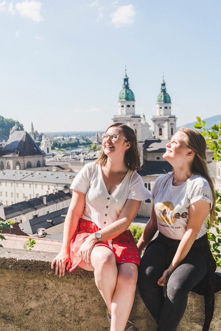 Addie and Leoni in Salzburg, Austria