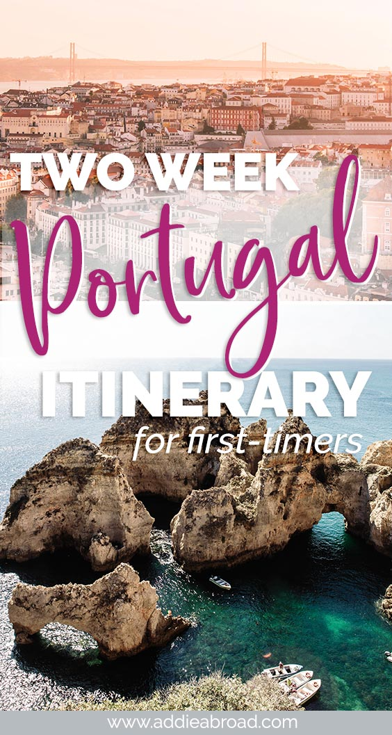Two weeks is the perfect amount of time to get a taste for everything Portugal has to offer. Visit Porto, Aveiro, Obidos, Lisbon, and Lagos in this 2 week Portugal Itinerary. #Portugal #Europe #TravelInspiration