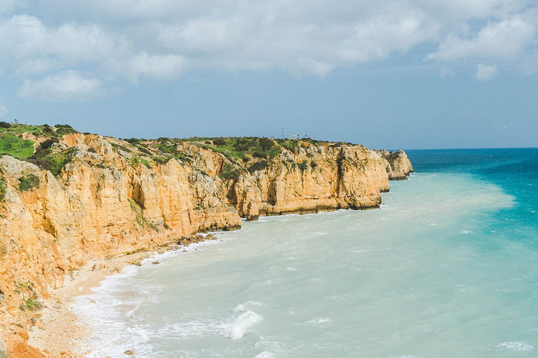 The stunning cliffs of Lagos, portugal
