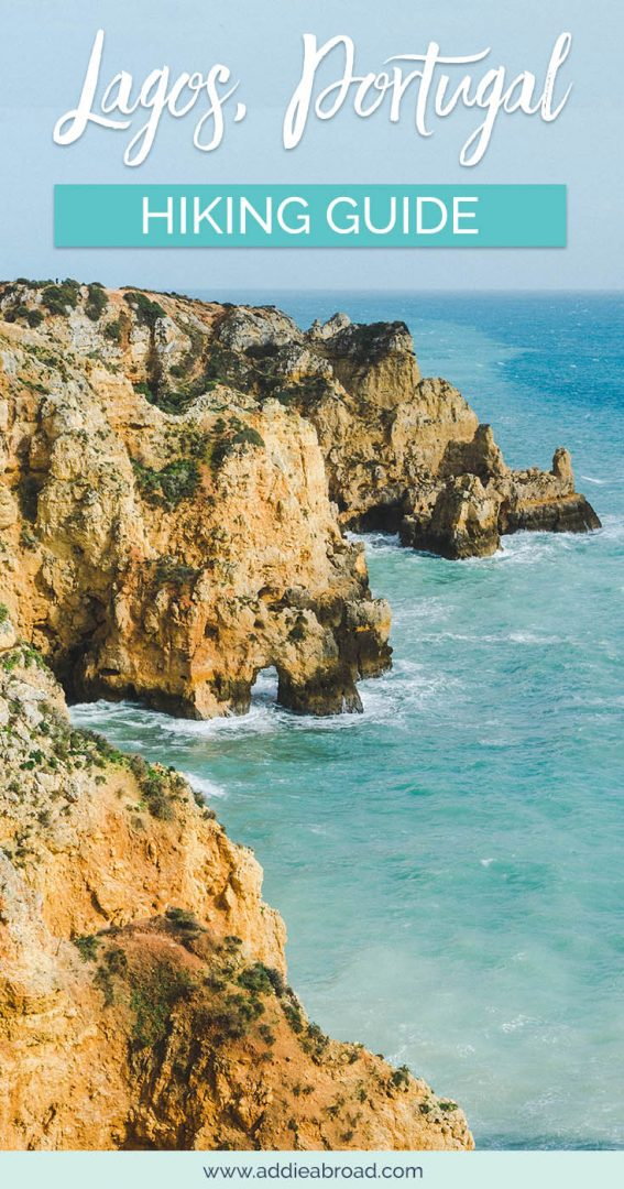 Visiting Lagos, Portugal soon? You NEED to check out this amazing hike along the top of the cliffs, which includes visiting some of the best beaches in Lagos, Portugal. Read this Lagos hiking guide to find out more. #Lagos #Portugal #AdventureTravel #TravelInspiration