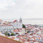 A bird's eye view of Lisbon, Portugal