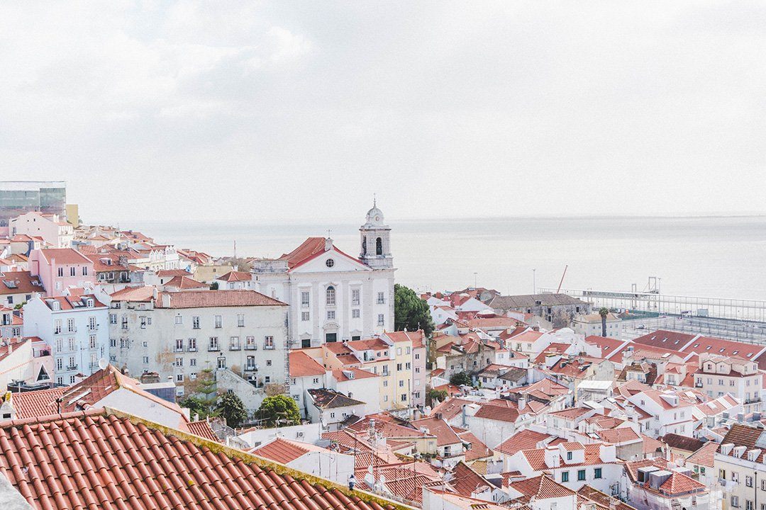 A bird's eye view of Lisbon, Portugal
