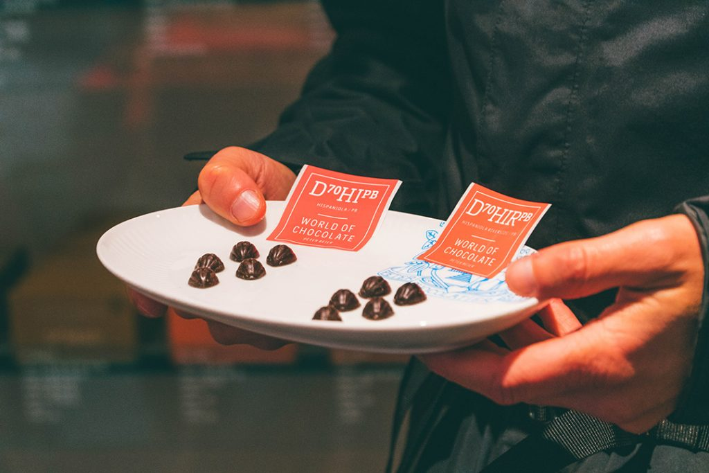 Single origin chocolate nibs at Peter Beier World of Chocolate in Copenhagen