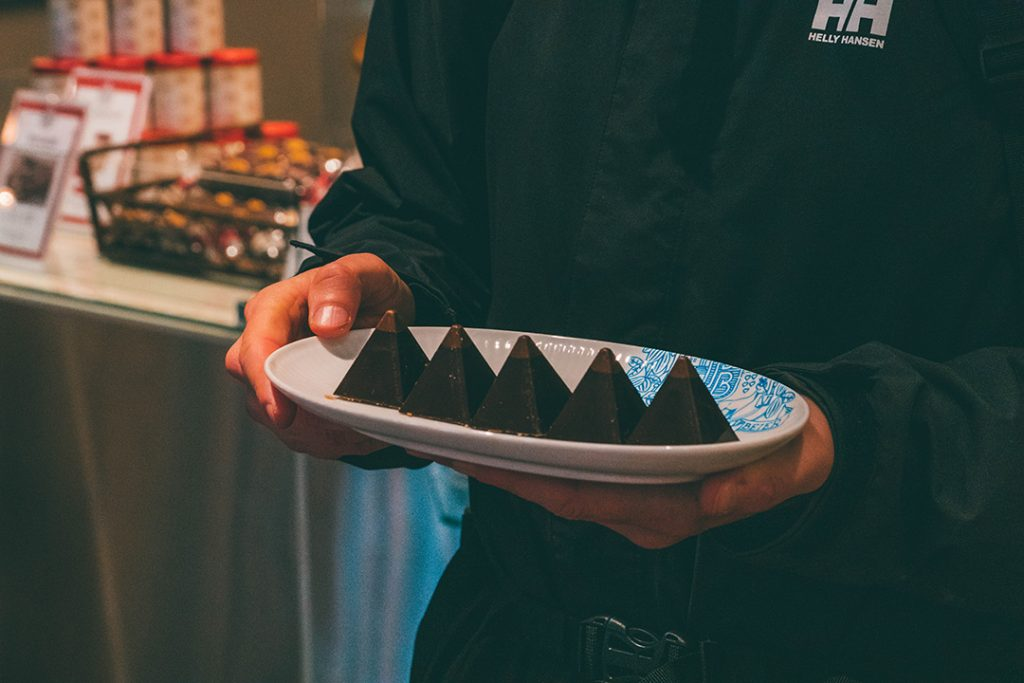 Meringue Chocolate Pyramids at Peter Beier World of Chocolate in Copenhagen
