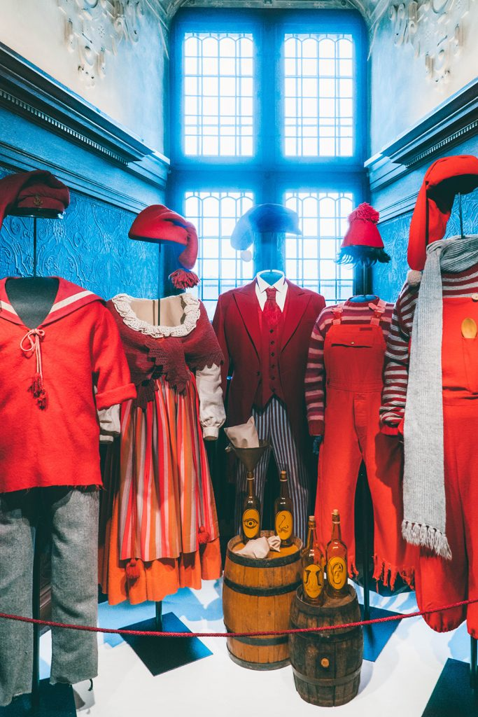 Costumes from a TV show filmed at Frederiksborg Castle