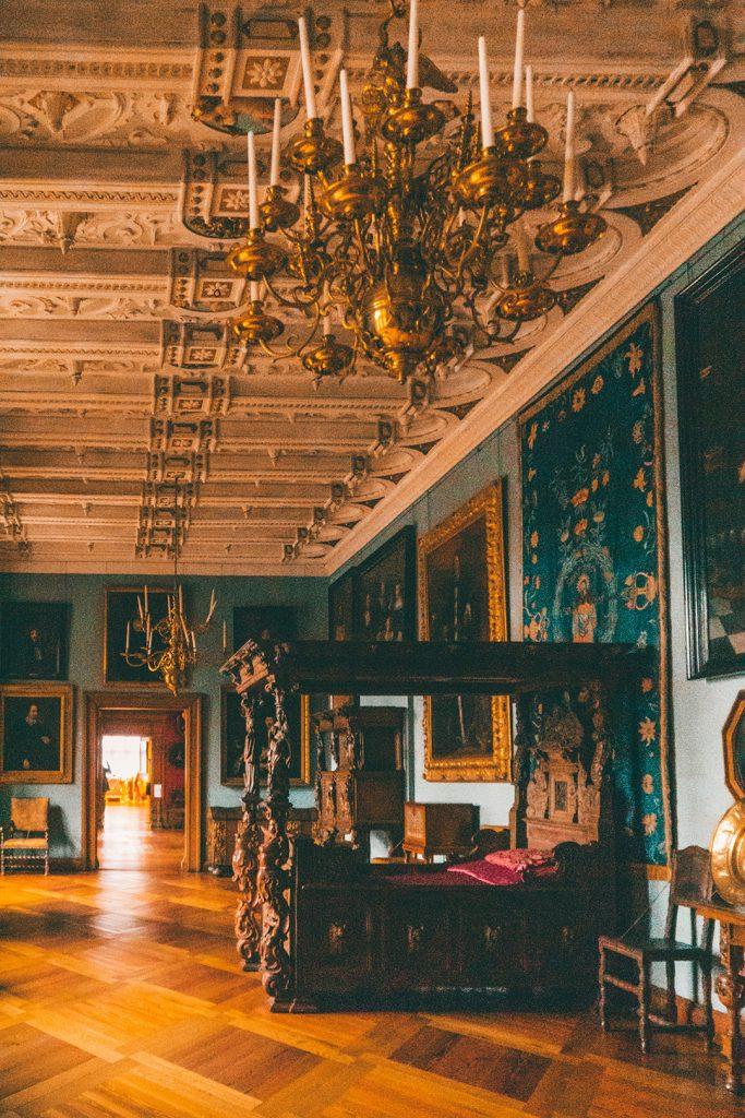 A grand bedroom in Frederiksborg Castle