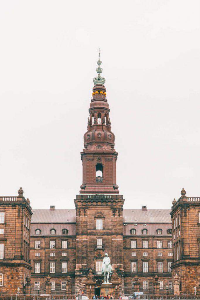 Christiansborg Castle in Copenhagen, Denmark