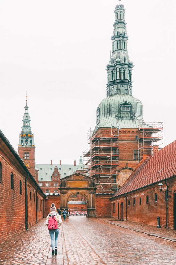 Megan walking towards Frederiksborg Castle on our Copenhagen day trip