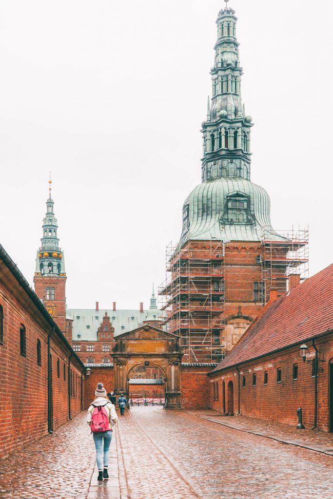 Megan walking towards Frederiksborg Castle on our Copenhagen day trip