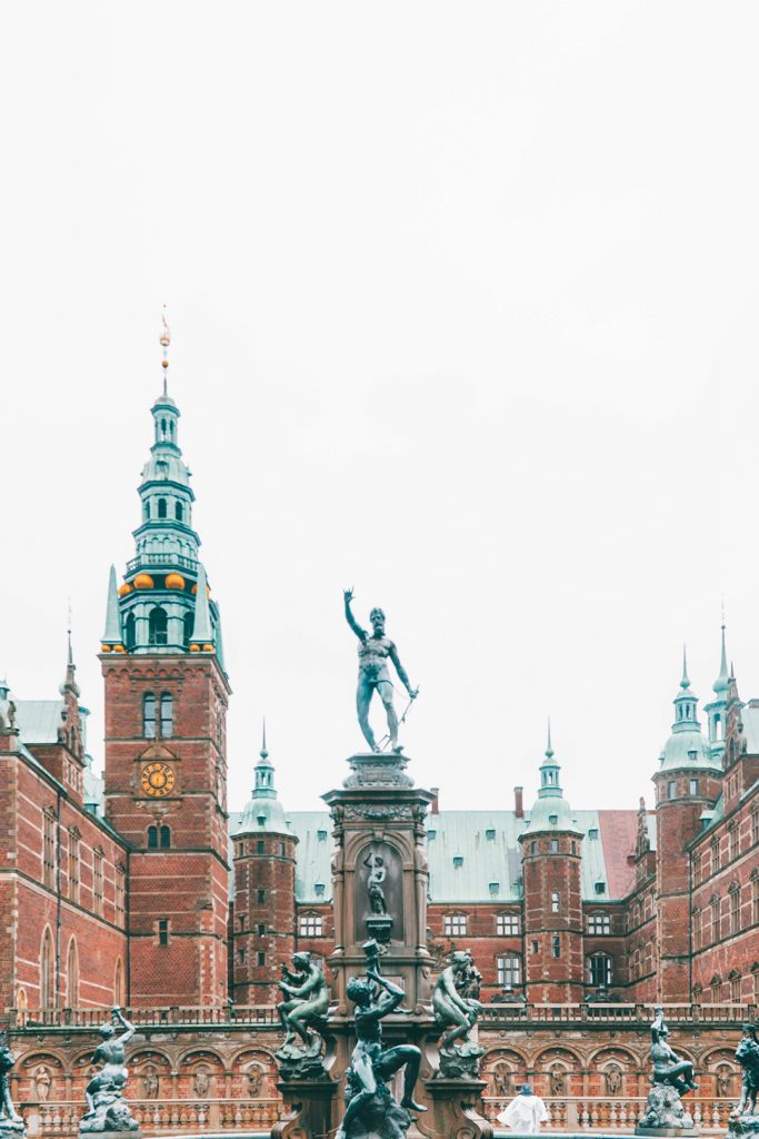 The courtyard of Frederiksborg Castle, an easy Copenhagen Day Trip