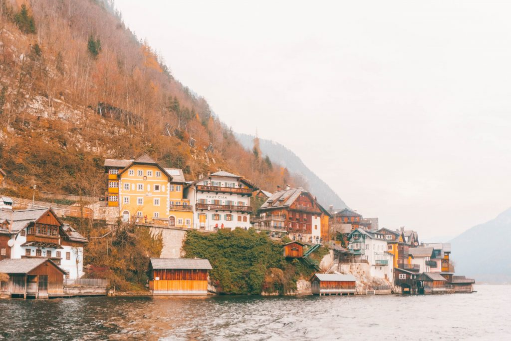 Hallstatt as seen from the water