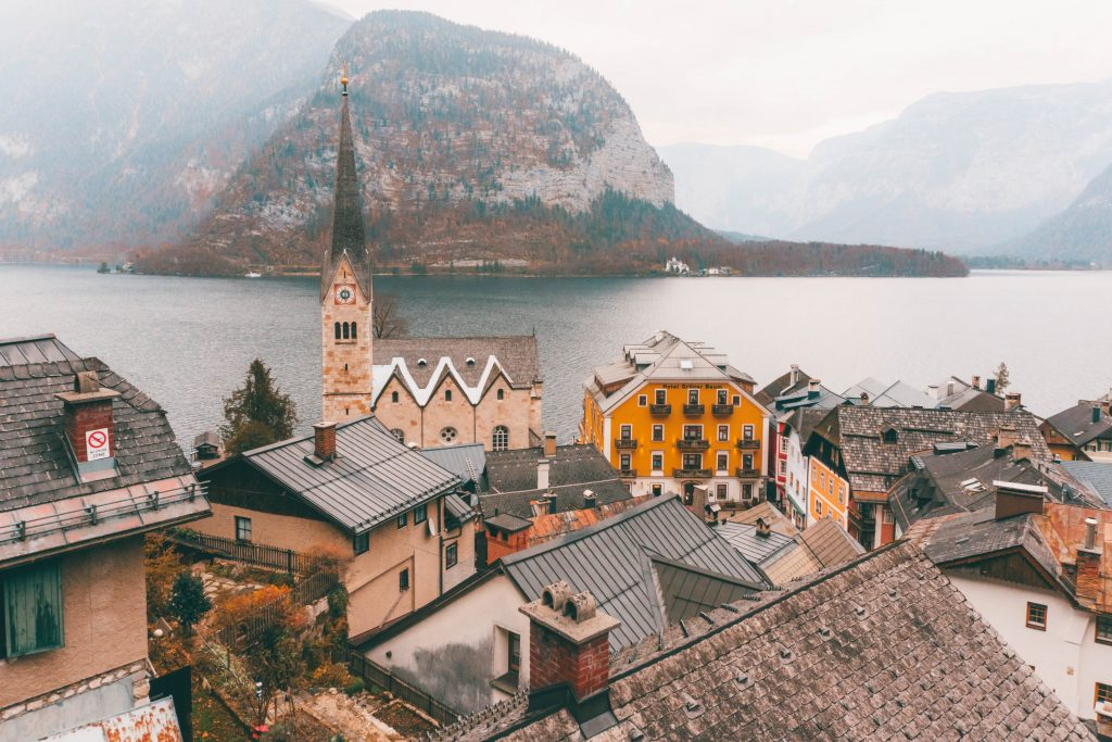 The view of Hallstatt from above