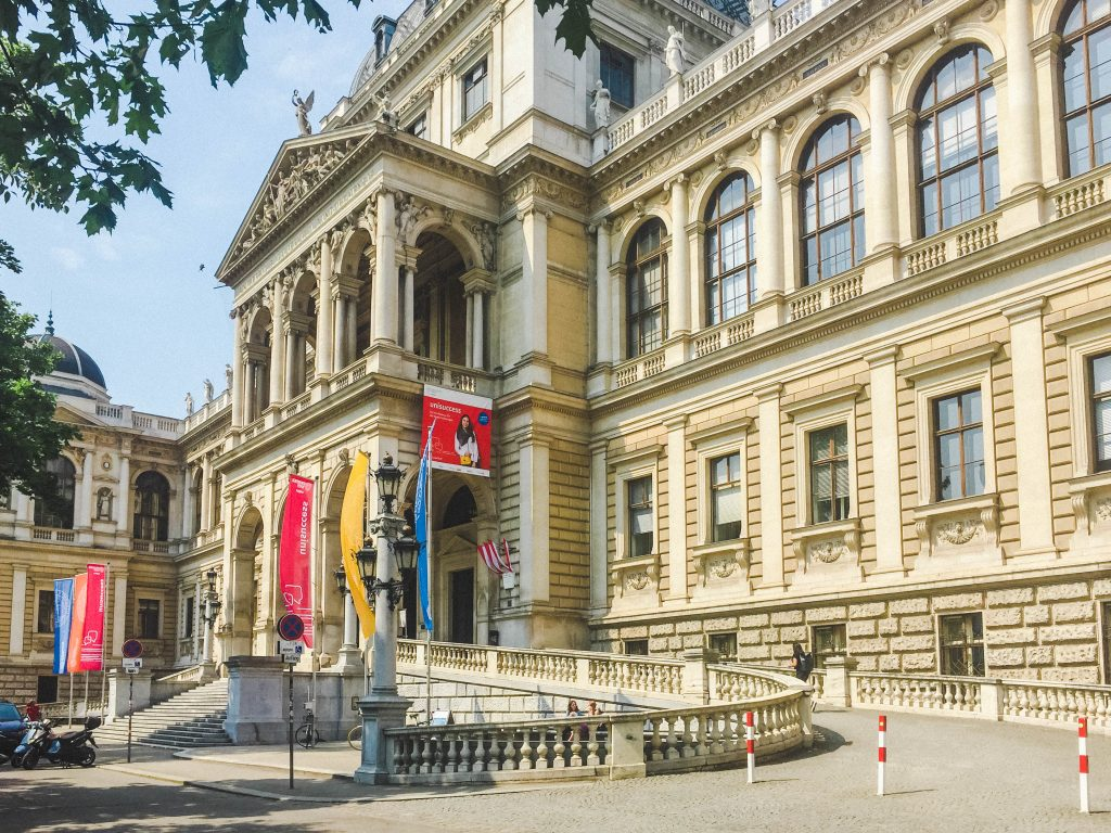 Vienna University, where Angela was studying abroad in Vienna.