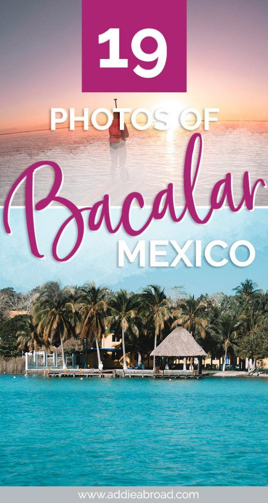 Bacalar, Mexico is a stunning hidden paradise in the Yucatan Peninsula just 2 hours south of Tulum. These 19 photos will convince you that you HAVE to go to this amazing Mexico destination. Click through to see them all! #travel #travelinspiration #mexico