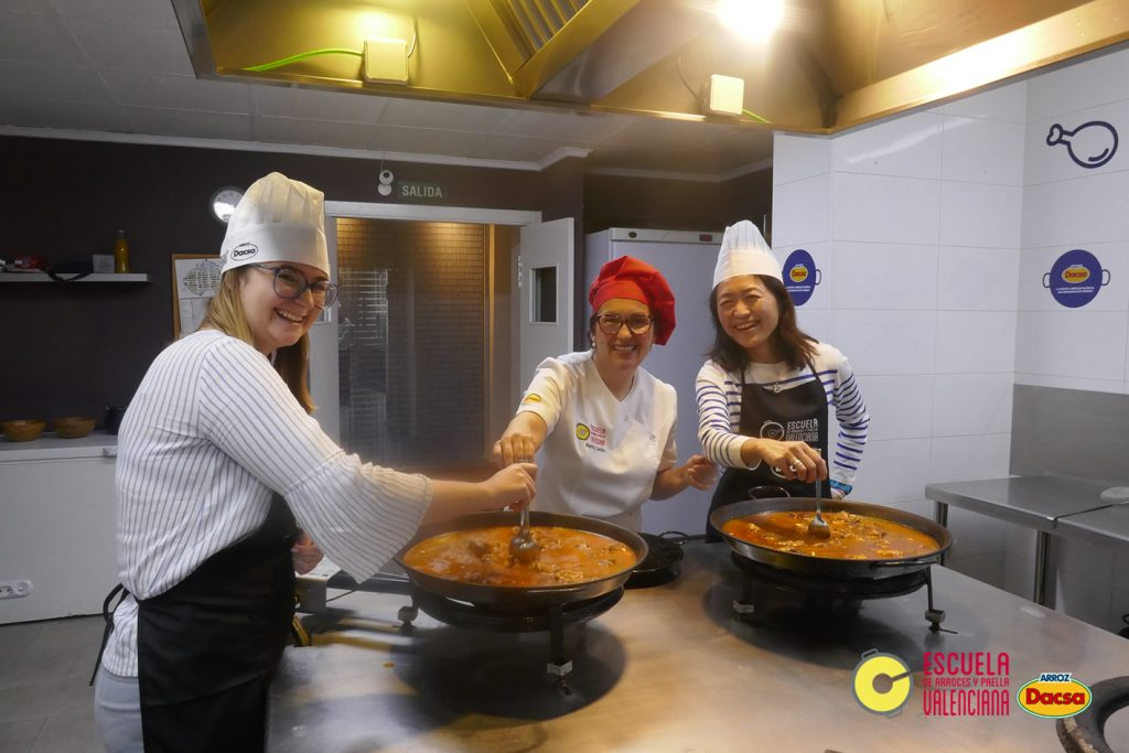 Learning how to cook Paella at the Escuela de Arroces y Paella! By far on of the coolest things to do in Valencia