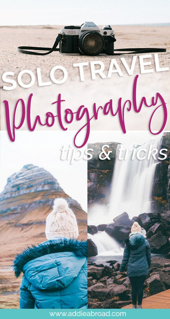 Do you travel solo? If so, you probably struggle with how to take pictures of yourself during solo travel. This post is my ultimate guide to solo travel photography, including my step-by-step process and tips & tricks. It's a must read for all solo female travelers! #travel #travelphotography #solotravel