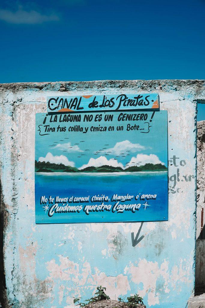 Eco art at the Canal de los Piratas