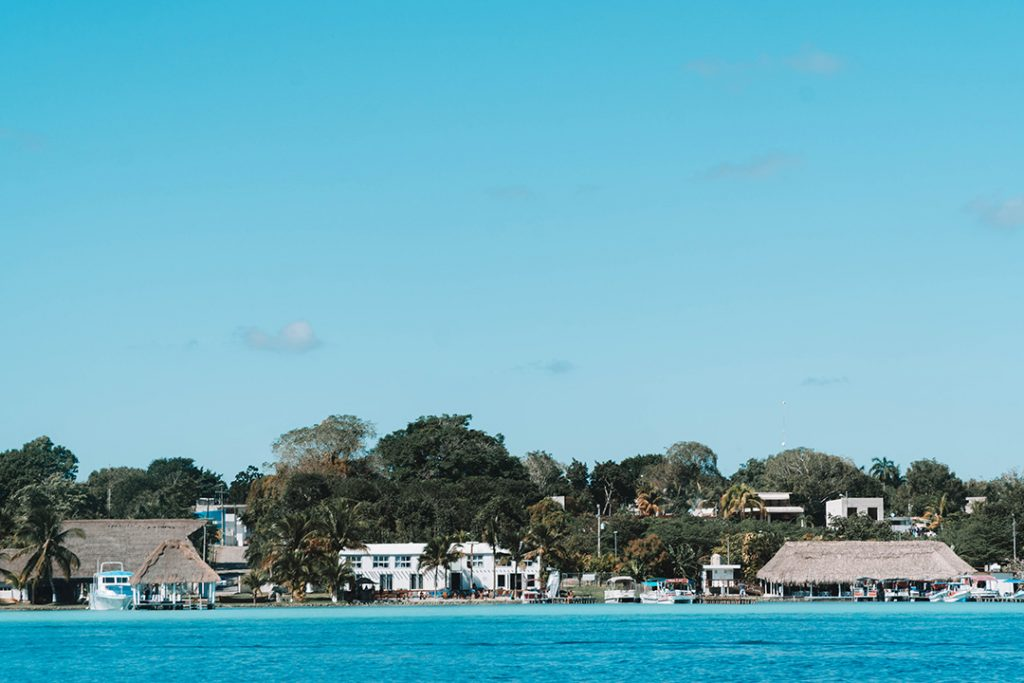 Bacalar Mexico from the water