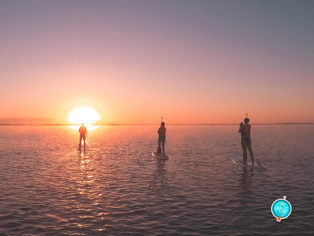 a sunrise SUP tour of the lagoon in bacalar mexico