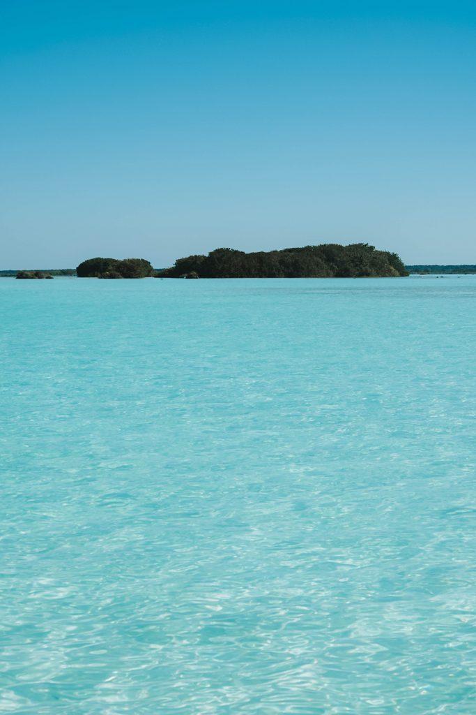Bird Island in Bacalar Mexico