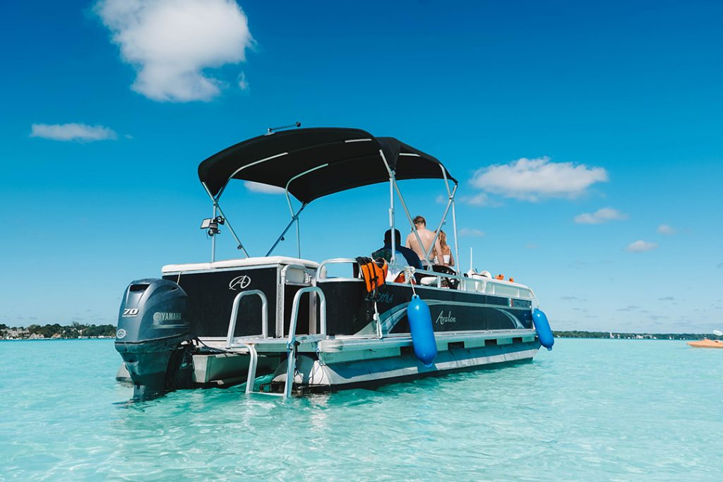 The Gaia Experience boat on Laguna Bacalar