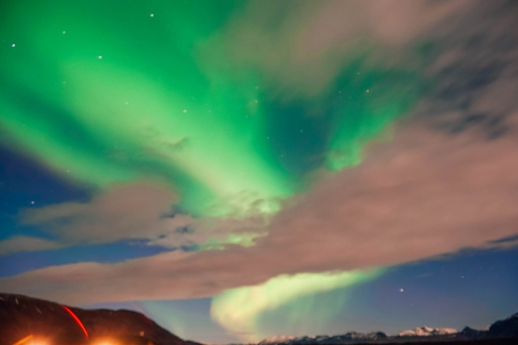 The Northern Lights dancing in Iceland