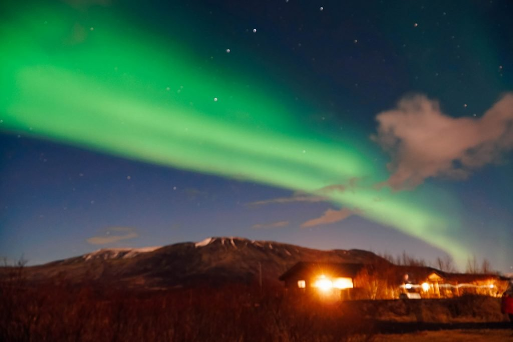 the northern lights in Iceland in December